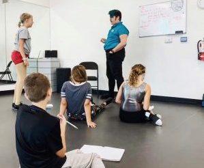 Tap dancing class photo.